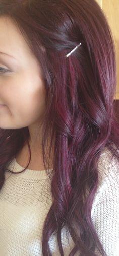 Purple burgandy red hair