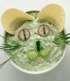 Avocado Cat Dip   Looks fun, and yummy