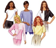 Butterick 3030 from Butterick patterns is a fast & easy tops sewing pattern