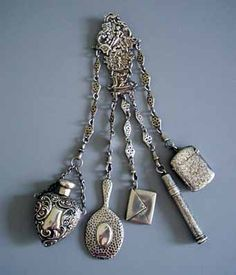 chatelaine.  the highly organised part of me just loves the idea of useful items hanging from my person...