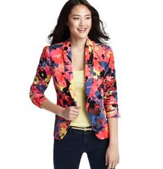 Floral Variety Drapey Crepe Blazer