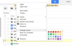Colourful Folders in Google Drive