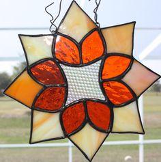 yellow star, glass project, stain glass, glass suncatch