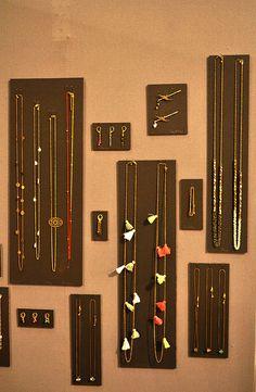 jewelry display boards <3