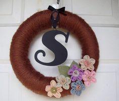 DIY Yarn Wreath Tutorial :  wedding atlanta crafts diy tutorial Il 570x02 il_570x02