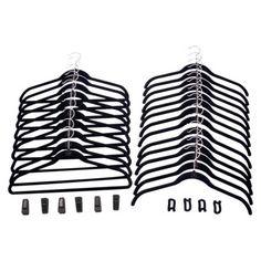 Joy Mangano Huggable Hangers Combo Pack Black.Opens in a new window