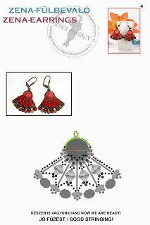 Ewa gyöngyös világa!: Zena fülbevaló minta / Zena earrings pattern