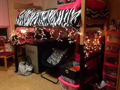 Adding Christmas lights to your room is a great way to lighten it up and to add a nice warm glow :)