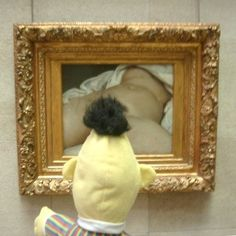 Bert Looking at the Origin of the World, Jean-Baptiste Mondino