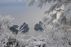 Capri, under the snow