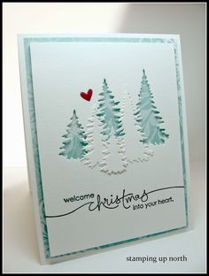 stamping up north: Welcome Christmas..Impression Obsession dies, The Cutting Edge Challenge