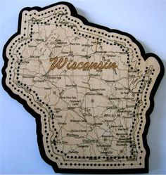 Are you kidding me? A Wisconsin shaped cribbage board? Yes, please.