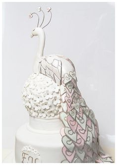 peacock wedding cake by cake the whole cake and nothing but the cake, via Flickr