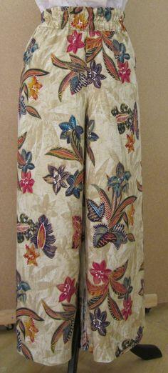 EL BAÚL DE LAS COSTURERAS: Pantalón Ancho de mujer