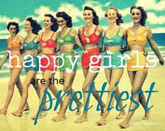 Audrey Hepburn quote Happy Girls are the Prettiest print