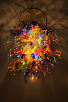 Chihuly Style Chandelier [HDR] by • ian, via Flickr... Awesome
