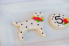 Puppy party Dessert Table - Dog Sugar Cookies by Itsy Belle Studio