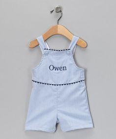 person shortal, princess linen, blue pinstrip, infant, baby boys