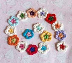 Crochet FLowers...  Flores a crochet...