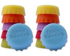 Beer Savers® (6-Pack) » Love this. Sometimes I open a beer and decide that I really did not want the beer, this would be useful.