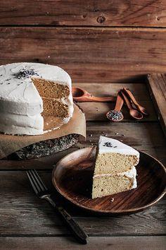 Lavender Vanilla Bean Cake...love the rustic, elegant feel of this #dessert! From http://pastryaffair.com/blog/lavender-vanilla-bean-cake