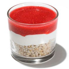 Breakfast Recipes from Celebrity Chefs: Ana Sortuns Yogurt Parfait With Grains and Fruit Puree (via Parents.com)