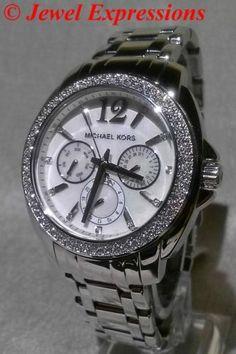 Michael Kors Cameron Glitz Swarovski Crystal Women's Watch MK5690 MSRP $250   eBay