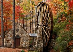 The Old Mill, #Berry College, Rome, #Georgia. #fall #autumn #leaves