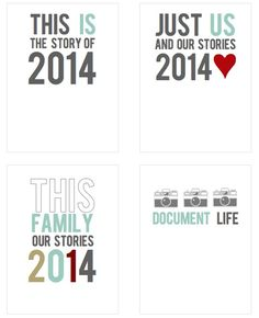 Printable -- 2014 Journal and Fillers Cards