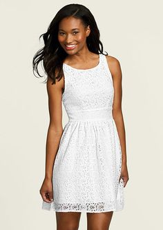 dELiAs > Lace Tie-Back Dress > dresses > sleeveless....another possibility with dye.