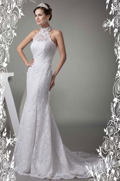 Lace Silver Wedding Dress☀ ☀ ☀