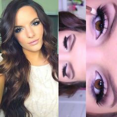 """#ShareIG This look is up on my channel! """"Prom Makeup Tutorial"""" direct link in my bio ❤️ lashes @velourlashesofficial in doll me up & @Audrey McGuire Hair 220g 22inch in #2"""