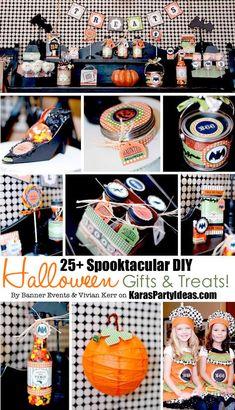 25+ Spooktacular DIY Halloween Gifts & Treats! Via Banner Events on Kara's Party Ideas | KarasPartyIdeas.com #diyhalloweengifts #halloweenpartyideas #halloweentreats