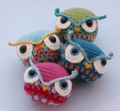 Owls #amigurumi #crochet