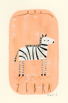 mark bradley: zebra illustration art