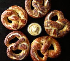 soft pretzel recipe -- yum.