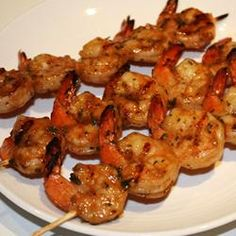 """Marinated Grilled Shrimp   """"Wow - this is the best grilled shrimp recipe ever! So easy to make - but it doesn't taste that way. We can't wait to make it again."""" -Ann"""