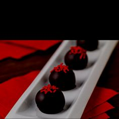 Red velvet ball delights!! Yummy !!