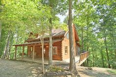 A Hidden Mountain 360 cabin rental in Pigeon Forge, TN. This beautiful cabin is situated along a creek on a large lot in the lovely Wears Valley area so you can enjoy your privacy.  The Master Suite features a stone Jacuzzi tub and is located on the main level. Curl up in front of the large stacked stone fireplace, or relax and take in the outdoors from the hot tub on the large, private screened in porch. A Hidden Mountain 360 is a perfect cabin to escape to the mountains.
