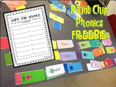 Paint Chip Phonics Freebie