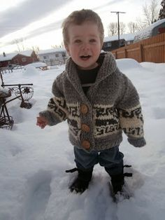 Honey Nutbrown's: Knitting!: Northern Whale Cowichan Sweater - Toddler's Cardigan. Free pattern