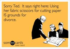 marrying a quilter means business.