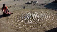 Himalayan Quartz Crystal Mandala at Pyramid Lake, Nevada, Sacred Land of the Paiute Tribe