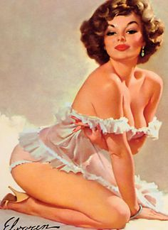 pin-up lingerie art.  this is when curvy girls ruled. <3