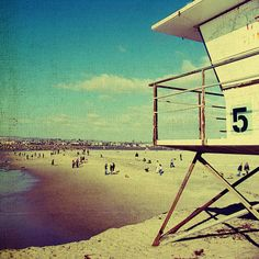 Beach decor, vintage beach, ocean beach, san diego, summer, sand, ocean, surf , beach art - Five, 8x8 photograph. $28.00, via Etsy.