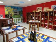 """Italian agri food products in our Show room """"Piazza Italia"""" - Dublin"""