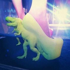 @Kaitlyn Teston I feel like you'd have these. T-Rex High Heels because reasons because FREAKING DINOSAUR SHOES.  @Kelly Keyes holy cow!!! i need these!!!!