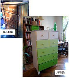 Green ombre dresser.