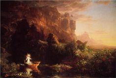 Thomas Cole- Voyage of Life, Childhood