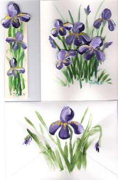 One Stroke Basics II Course - Filbert Brush Irises